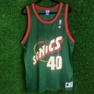 Vintage Shawn Kemp #40 NBA Sonics Champion Jersey